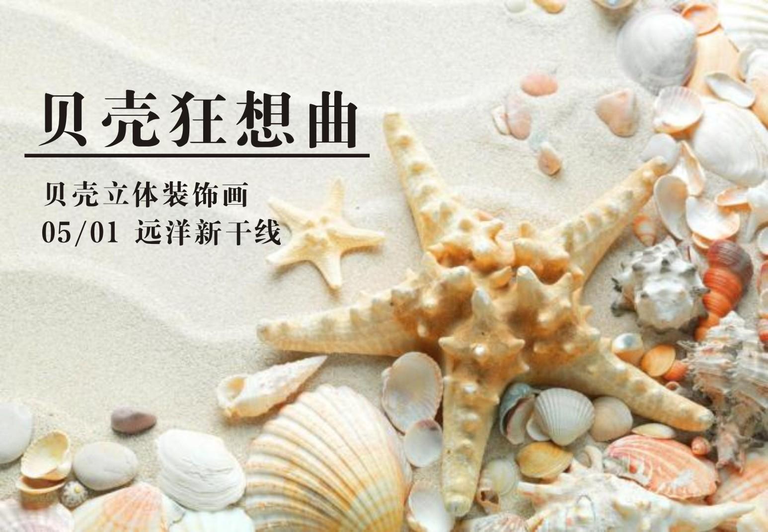 【手工艺术】贝壳狂想曲--组合一幅贝壳立体装饰画+画只七星瓢虫